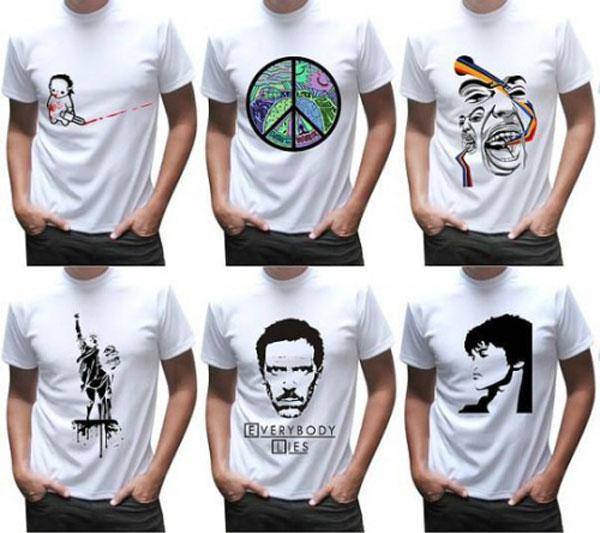 78ee6c4fa6624 У нас можно заказать полноцветную печать на футболках любых изображений и  надписей. Изображение наносится на футболки белого цвета при помощи  сублимации.